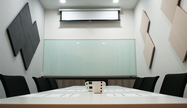 Meeting room with LCD projector