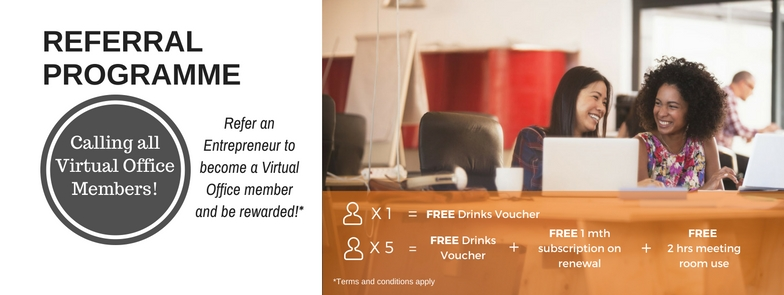 Referral Programme @ One Bizhub Singapore (The Commerze@Irving)